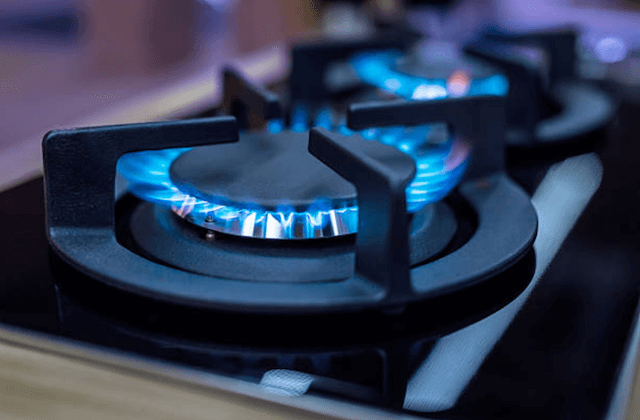 stove burner turned on